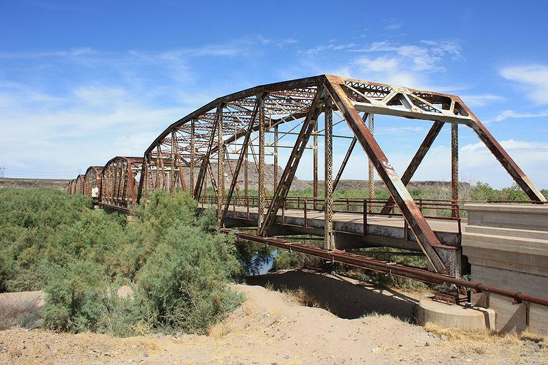 The old US 80 highway bridge