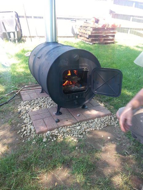 Building A Simple Barrel Stove Outdoor Revival