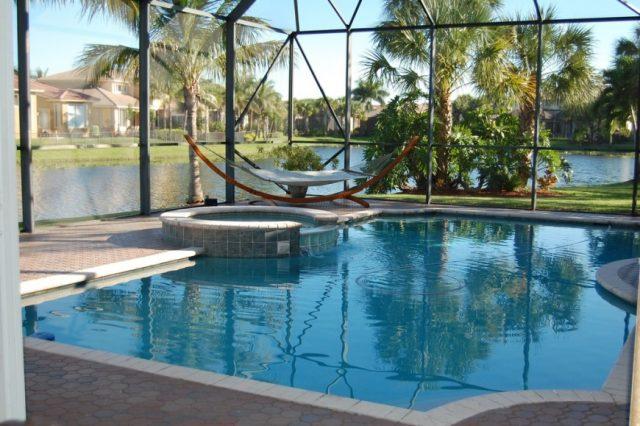poolside hammock