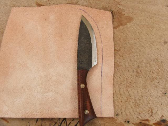 How To Make Your Own Cross Draw Knife Sheath Outdoor Revival