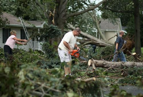 Using outdoor power equipment safely is important when cleaning up after a storm, says the Outdoor Power Equipment Institute (OPEI).