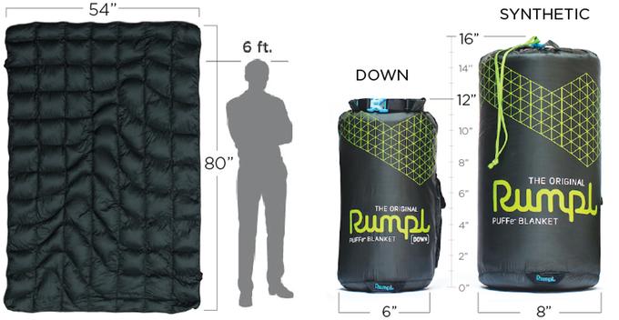 Rumpl Puffe Heated Blanket Rumpl Puffe Battery Powered