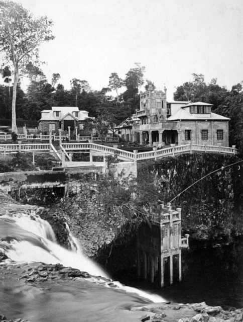 Paronella Park from the top of Mena Creek Falls Innisfail c 1935.