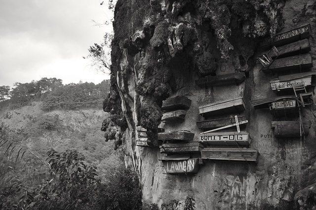 The hanging coffins of Sagada. Source