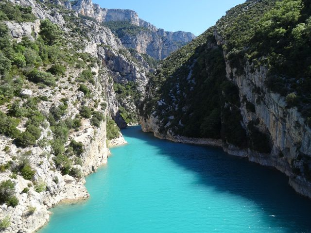 The Verdon Gorge as it opens out onto the Lake of Sainte-Croix