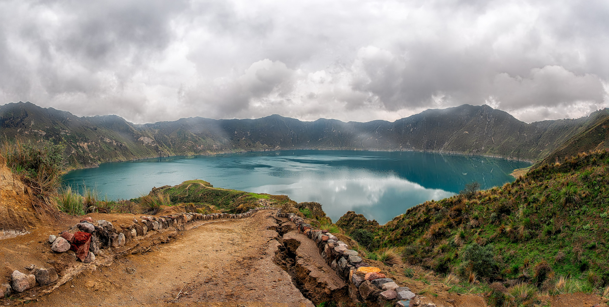 Quilotoa is the most western volcano in the Ecuadorian Andes. Photo credit