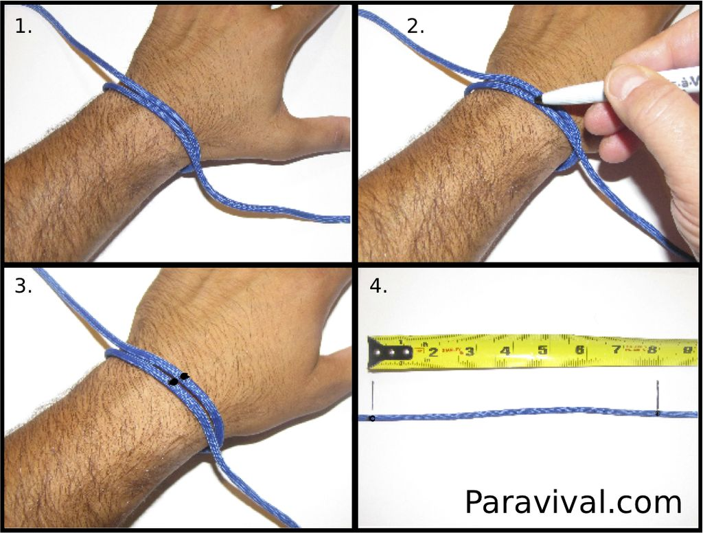 Drawing Lines On Your Wrist : How to make a two color survival bracelet outdoor revival