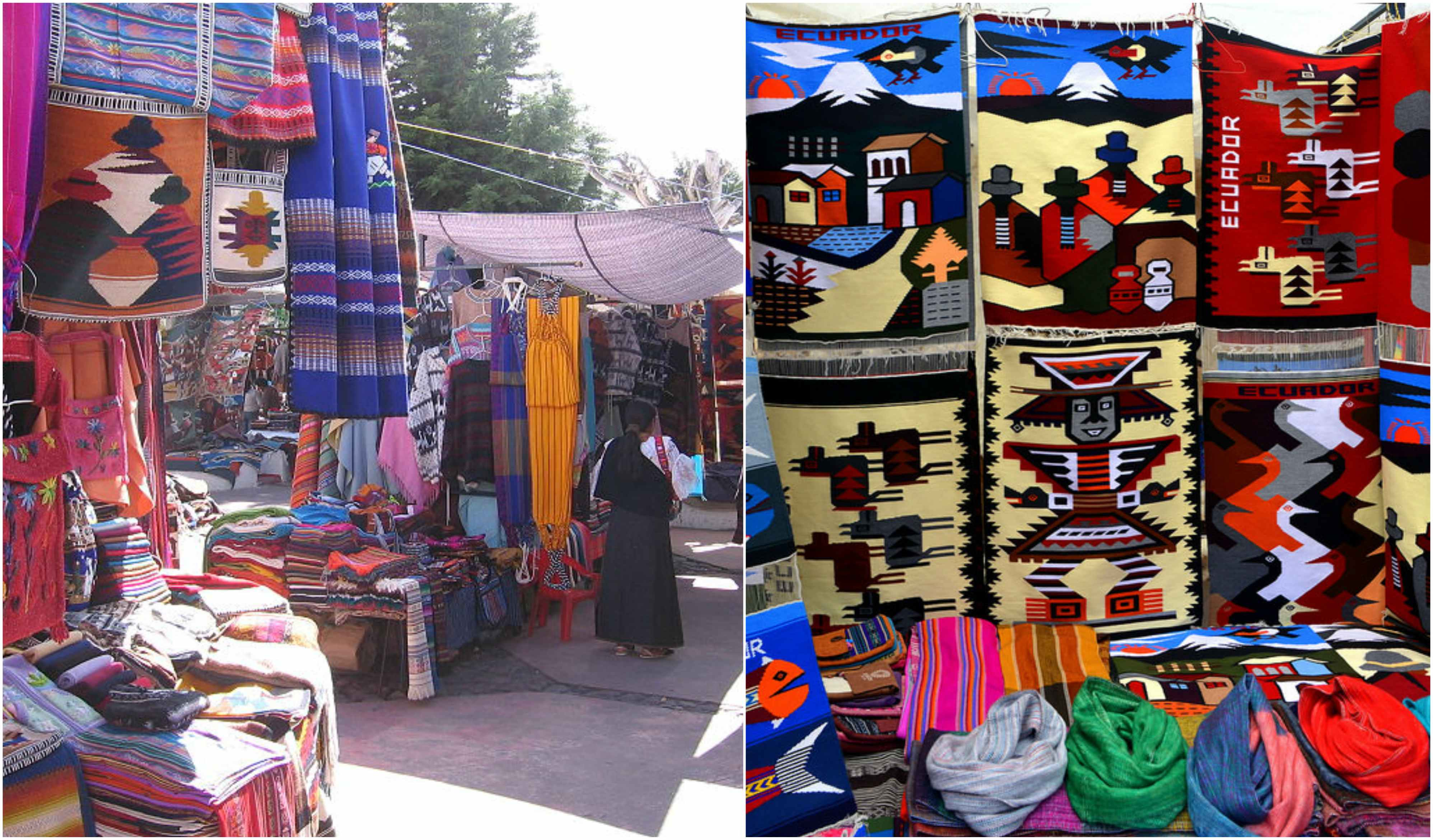 the colorful otavalo market outdoor revival