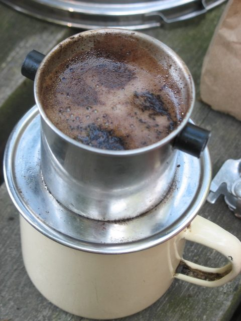 You can brew cowboy coffee in any kind of cook pot.