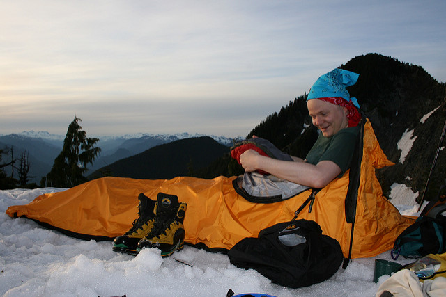 This sleeping bag is good! – Author: Kevin Teague – CC BY 2.0