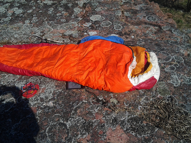 Santa Claus sleeping bag. – Author: Timo Noko – CC BY-SA 2.0