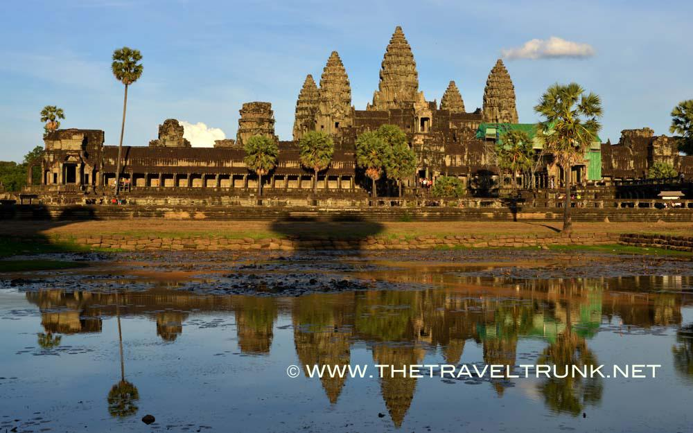 Angkor Wat temple complex in Cambodia.