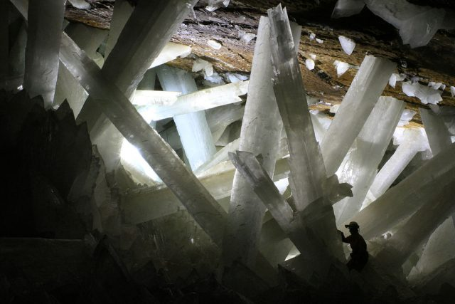 Cave of crystals, Mexico Photo Credit