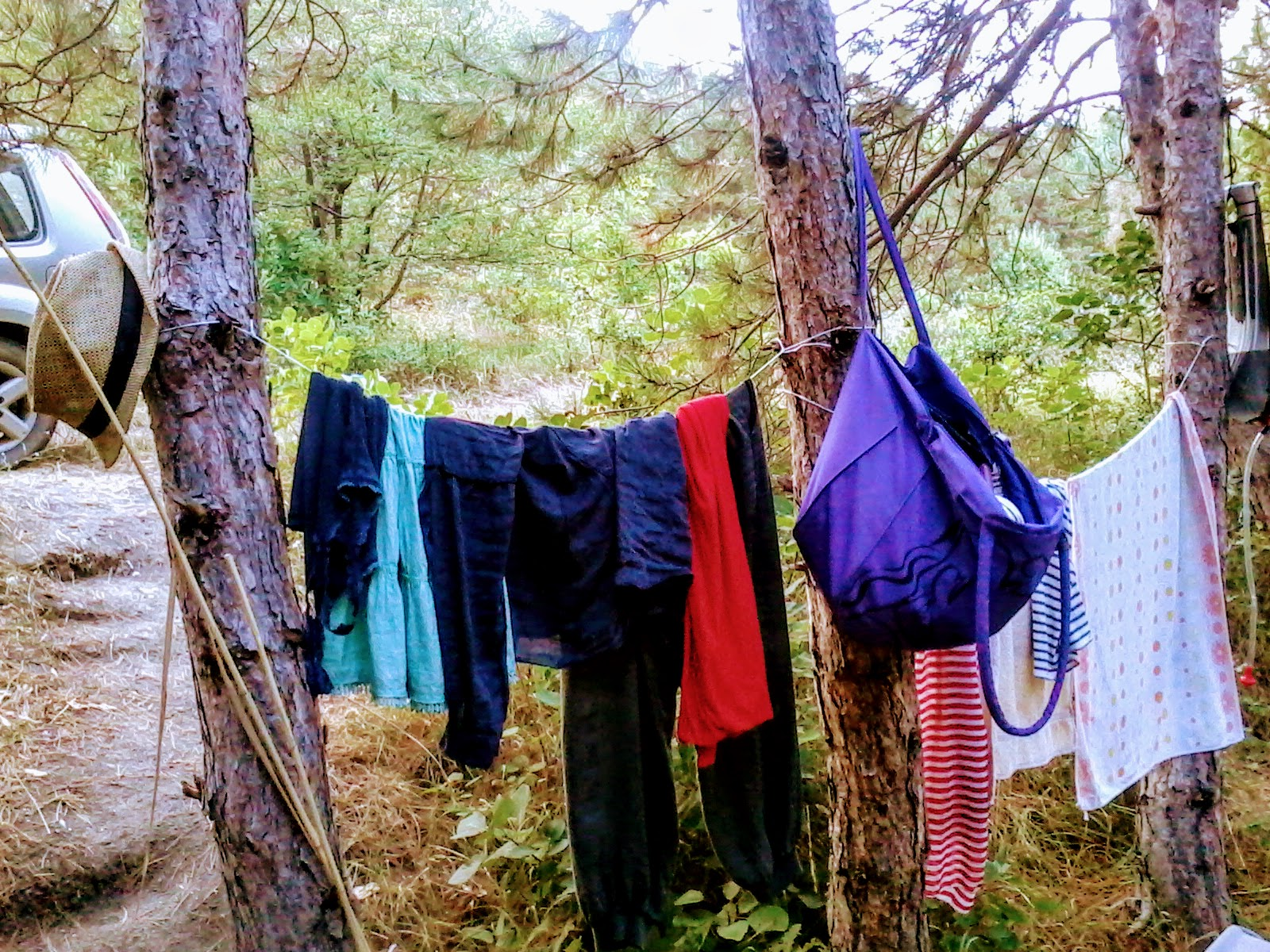 Clothes Being Washed ~ Staying clean in the wilderness outdoor revival
