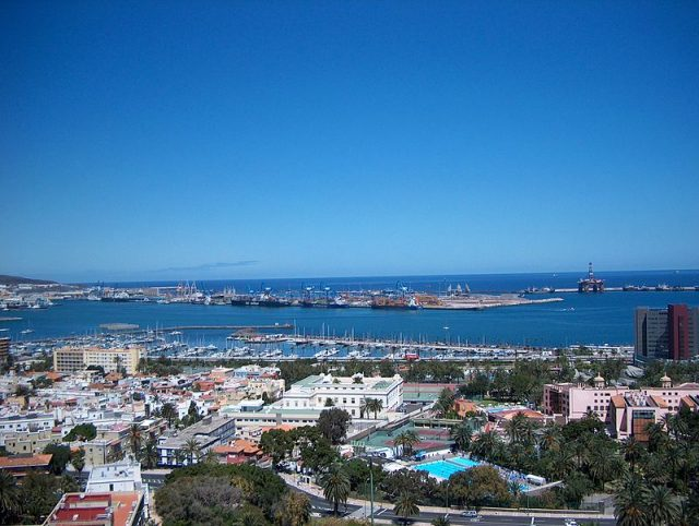 The port of Las Palmas. Photo credit