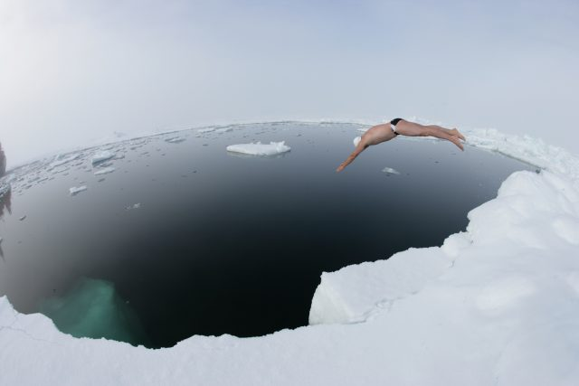 Lewis Pugh plunged in at the North Pole – Author:Lewis Pugh – CC BY 3.0