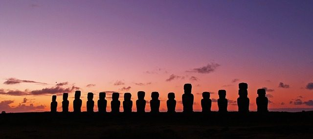 travel blogging easter island statues