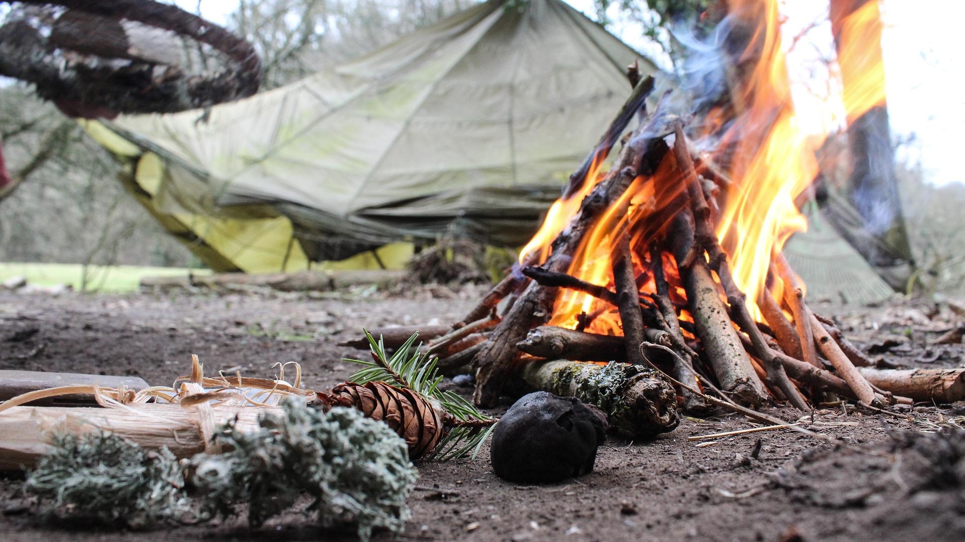 campfire via tinderbox