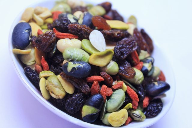 Trail mixes can be all colors and styles