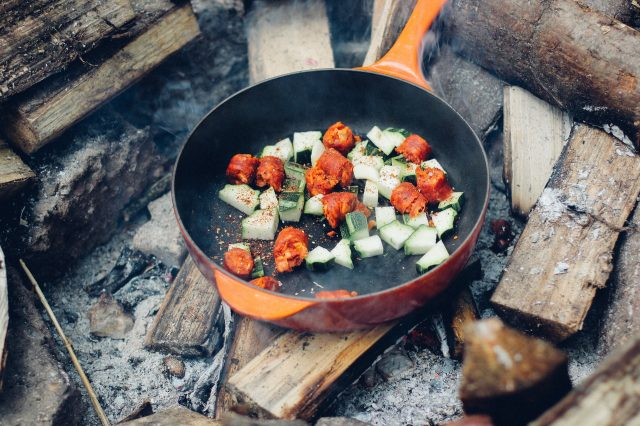 Outdoor cooking can taste even better after a long day's cycling