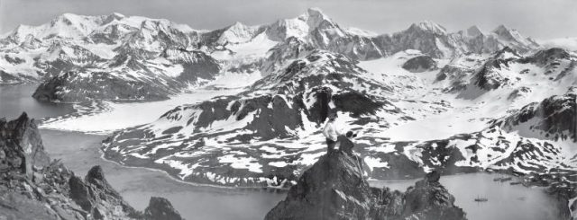 A panoramic view of South Georgia taken by Frank Hurley during the Imperial Trans-Antarctic Expedition
