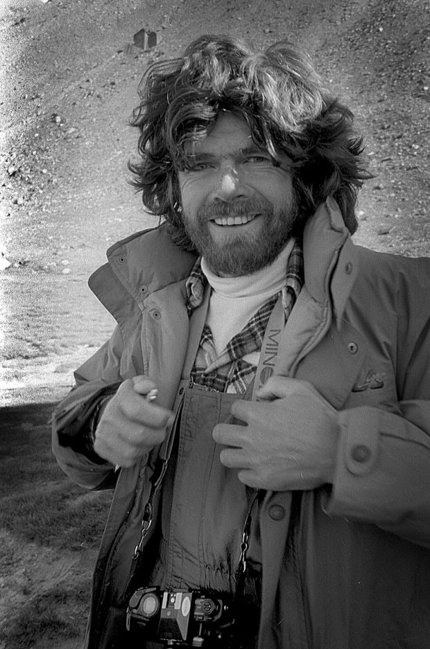 Reinhold Messner in 1985 in Pamir Mountains – Author: Jaan Künnap – CC BY 4.0