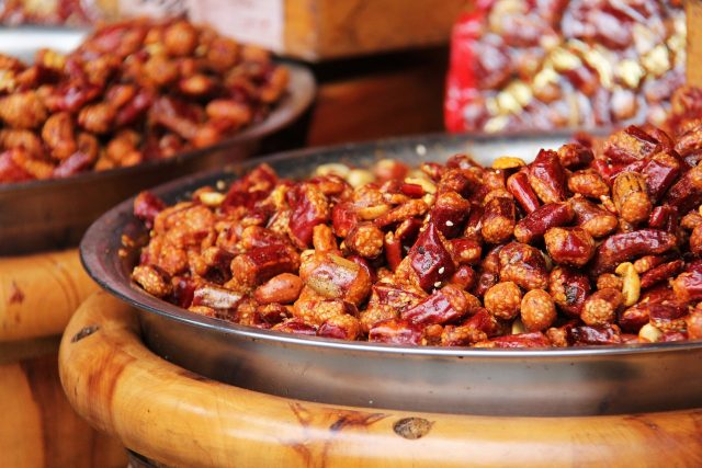 spicy nuts are an excellent trail snack
