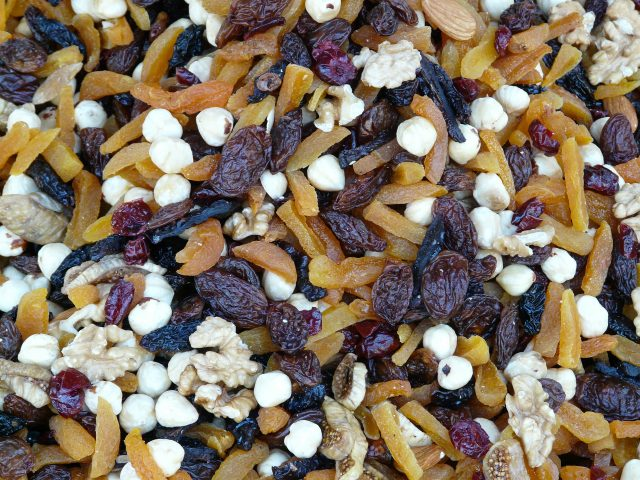 trail mix is a great trail snack