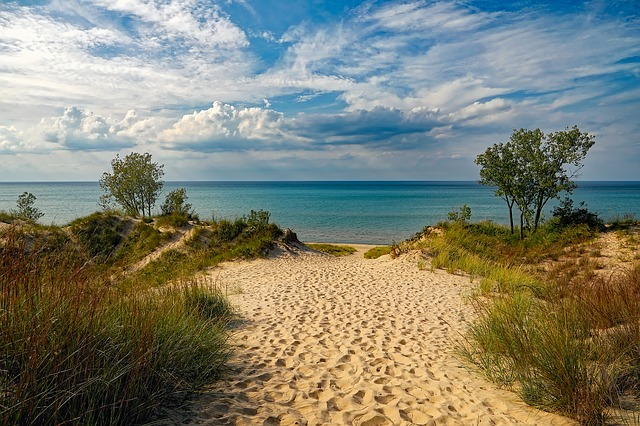 Indiana dunes, a beautiful location for a family day out
