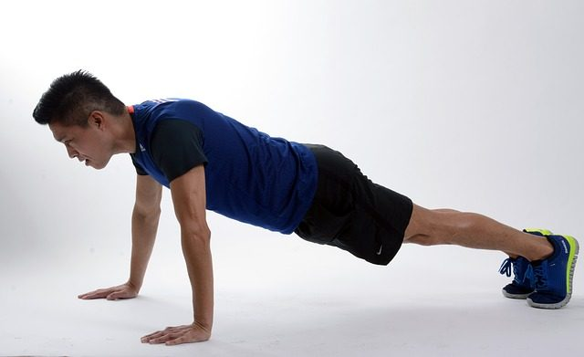 plank position on an inhale.