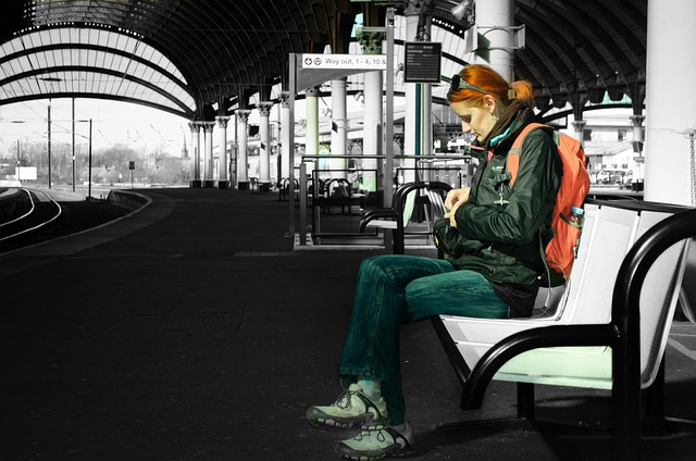 Waiting for the right train
