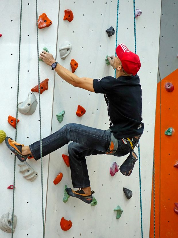 Climbing is good for your body and your mind