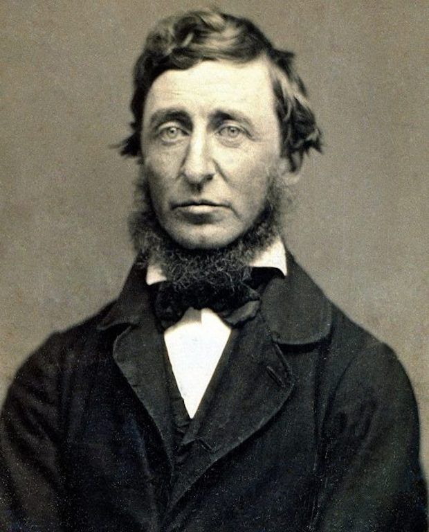 Portrait photograph from a ninth-plate daguerreotype of Henry David Thoreau.