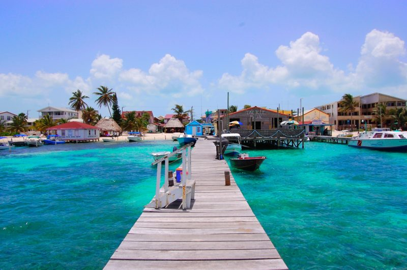 The inviting turquoise water at Ambergris Caye