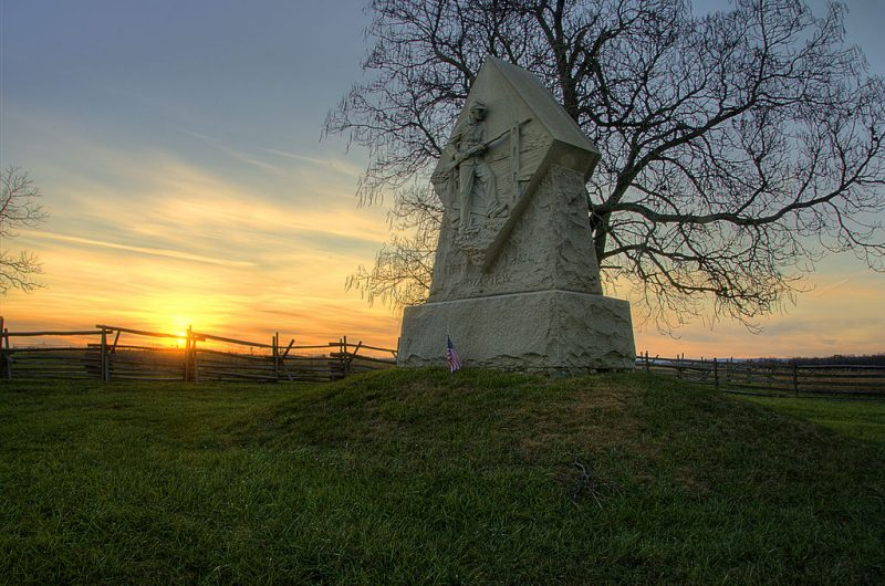 1st Massachusetts Monument at Sunset – Author: Steven C. Berger- CC BY-SA 3.0