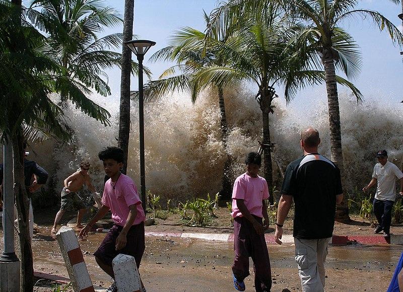 Taken at Ao Nang, Krabi Province, Thailand, during the 2004 Indian Ocean earthquake and tsunami in Thailand