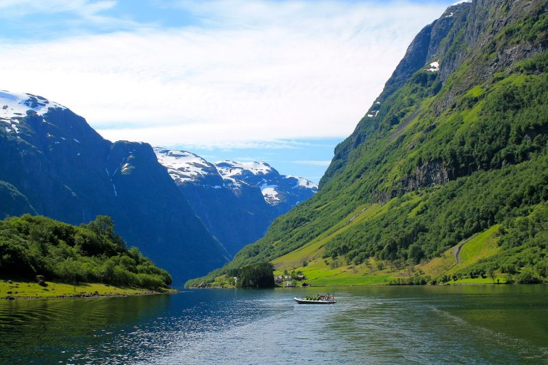 The beautiful Norwegian fjords