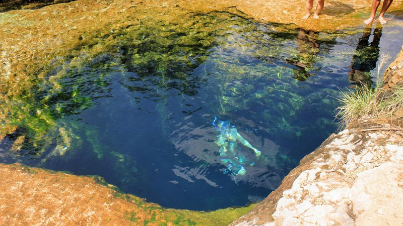A swimmer at Jacob's Well – Author: Larry D. Moore – CC BY-SA 4.0