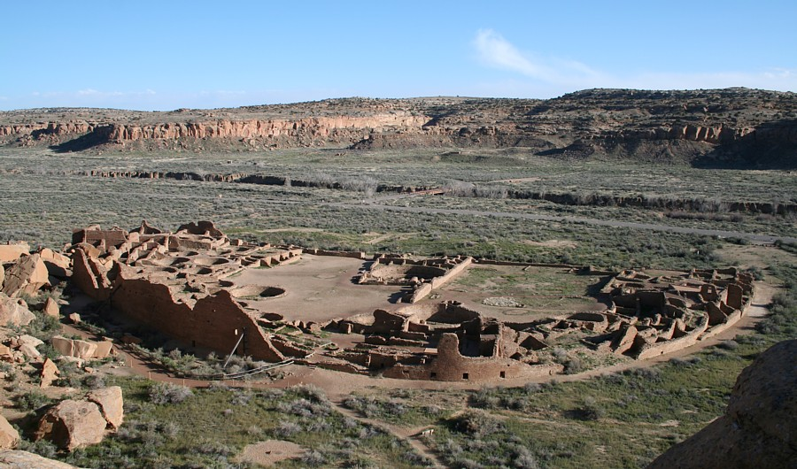 Pueblo Bonito is the largest great house in Chaco Canyon, New Mexico - Author: James Q. Jacobs - CC BY-SA 3.0