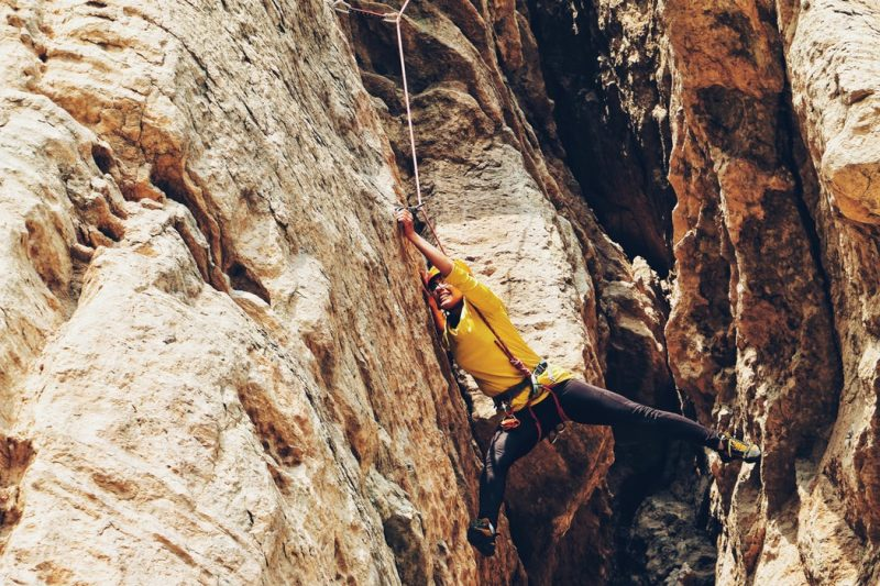 Climbing can get out into some incredible places.