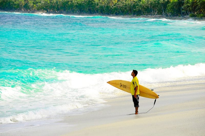 Surfing means you'll be spending a lot of time in paradise.