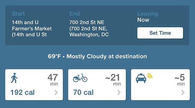 Comparison of walking and bicycling in Washington DC – Author: Ted Eytan – CC BY-SA 2.0