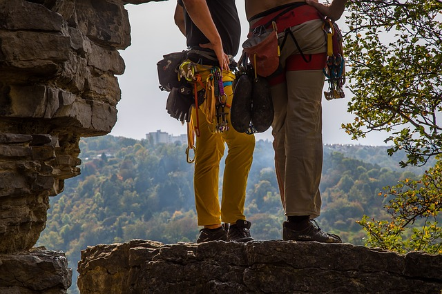 Climbing partners keep each other safe.