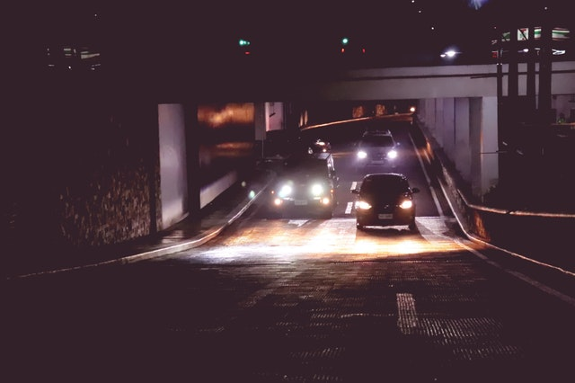 driving, cars, night, border crossing