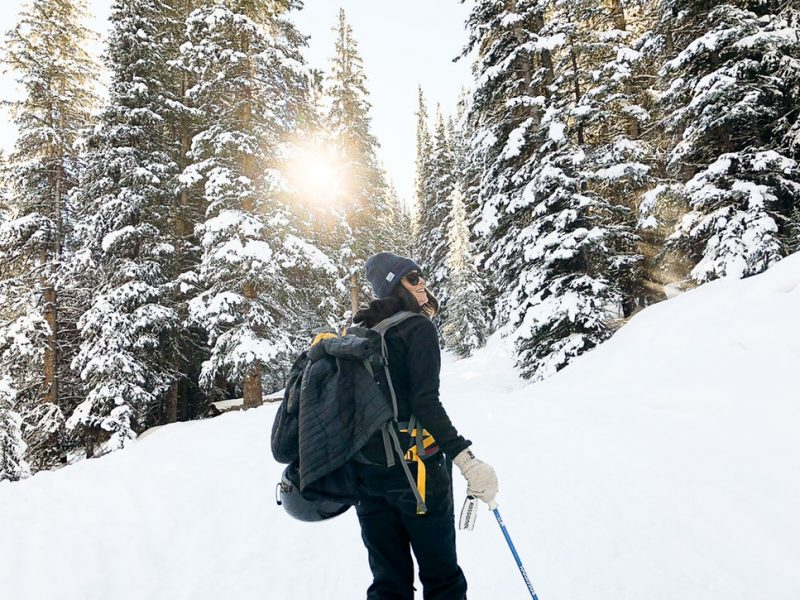 Exploring the backcountry in winter