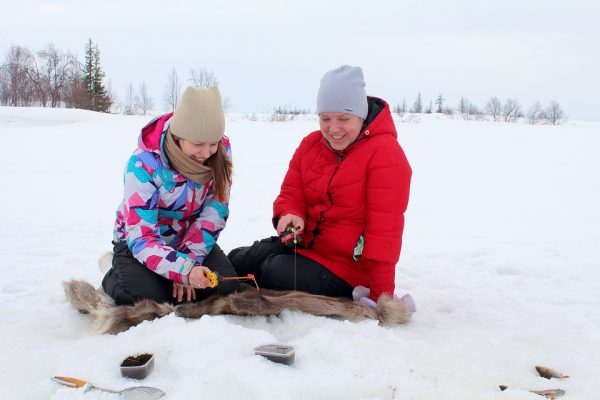Get creative with your activities. Make an ice-bar, or go winter fishing – there's a lot to do in winter!