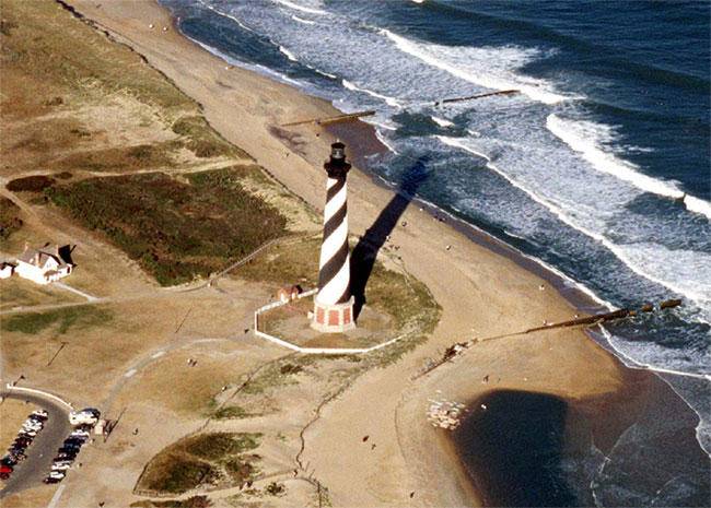 Cape Hatteras Light, prior to its move in 1999