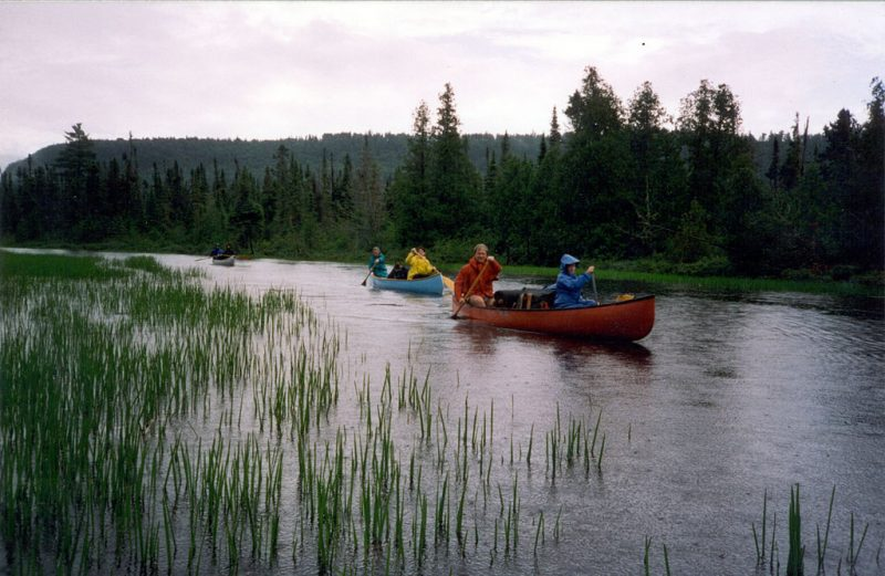 Canoe campers on a trip in the BWCAW
