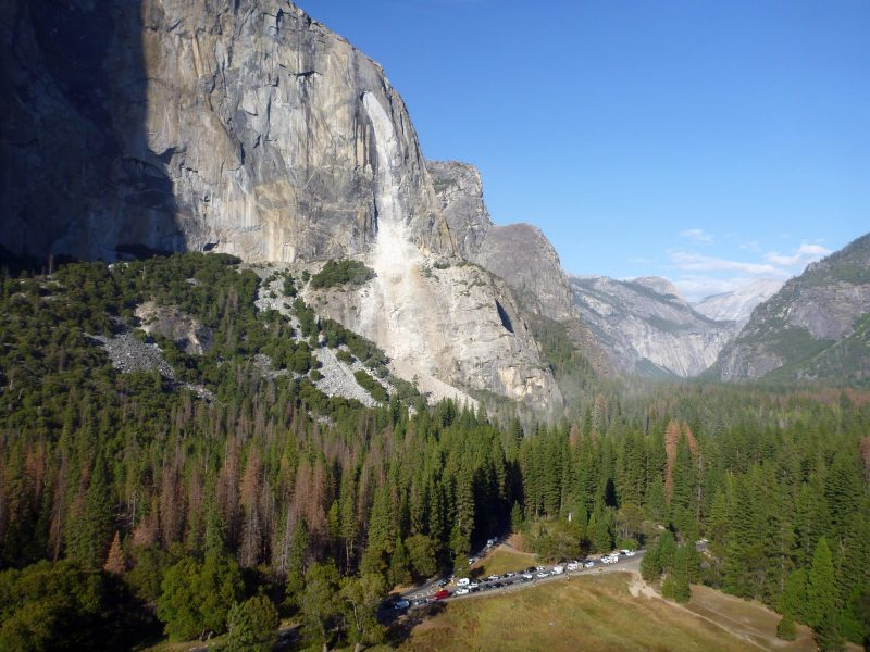 Rockfall in Yosemite National Park