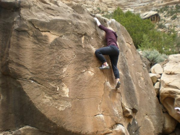 Whitney Foster bouldering at Joe's Valley – Author: Jfbomber – CC BY-SA 3.0